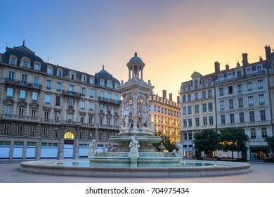 Sunrise at Place des Jacobins, Lyon