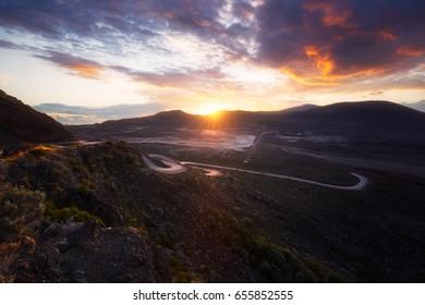 Sunrise at Plaine des Sables, Reunion Island
