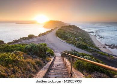 Sunrise at Point Nepean, part of the Mornington Peninsula in Victoria, Australia.