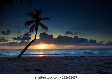 sunrise at Punta Cana, Dominican Republic