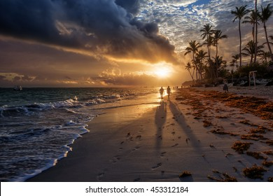 Sunrise in Punta Cana in Dominican Republic