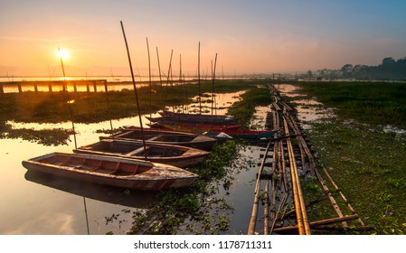 Sunrise in Rawapening Central Java Indonesia