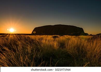 Sunrise at the Red Center of Australia