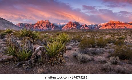 Sunrise at Red Rock Canyon, Nevada
