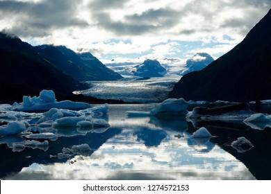 Sunrise Reflections at the Grewink Glacier in Kachemack Bay State Park, Homer, Alaska