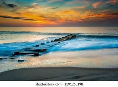 Sunrise at Rehoboth Beach Delaware
