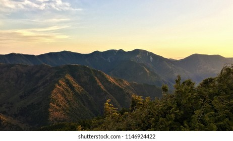 Sunrise ridgeline in Chichibu-Tama-Kai National Park, Japan