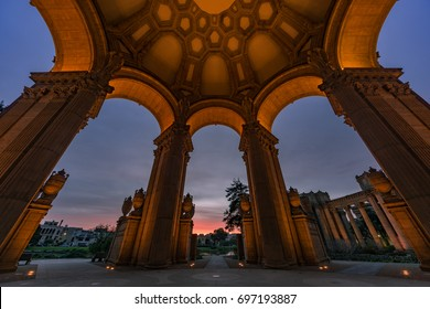 Sunrise in the Rotunda in the Palace of Fine Arts