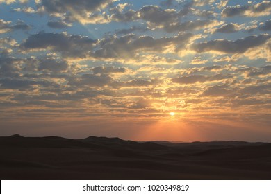 Sunrise in the Rub al Khali Desery