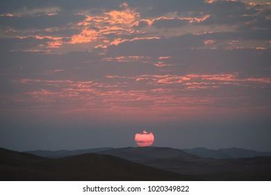 Sunrise in the Rub al Khali Desery