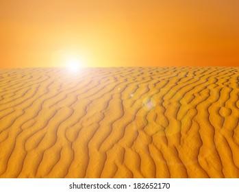 Sunrise in the Sahara, Morocco
