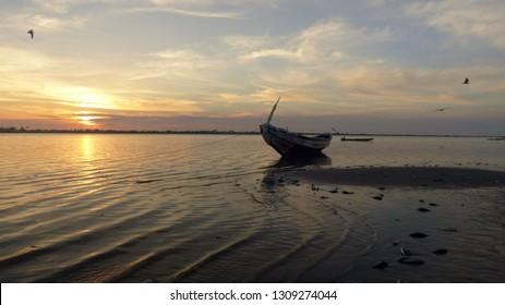 Sunrise in Saint Louis Senegal