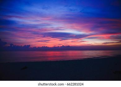Sunrise at samila beach songkhla Thailand.