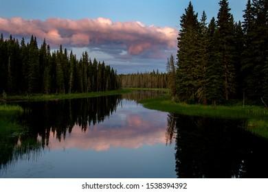 Sunrise Saskatchewan North National Park Waskesui Lakes