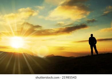 Sunrise scene