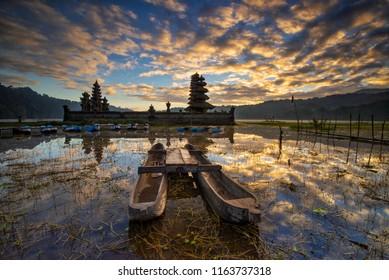 Sunrise Scenery of Lake Tamblingan, Bali, Indonesia