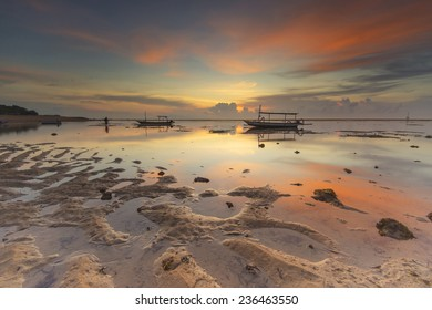 Sunrise Scenery at Mertasari Beach, Sanur, Bali