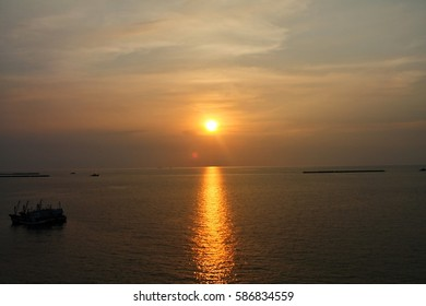 Sunrise in the sea of Thailand