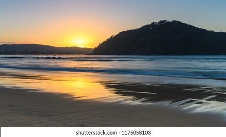 Sunrise Seascape - Capturing the sunrise from Ettalong Beach Point and Umina Beach on the Central Coast, NSW, Australia.