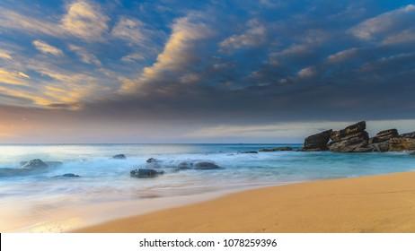 Sunrise Seascape - Capturing the sunrise from Killcare Beach on the Central Coast, NSW, Australia.