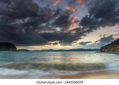 Sunrise Seascape with Clouds - Pearl Beach on the Central Coast, NSW, Australia.