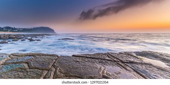 Sunrise Seascape - Forresters Beach on the Central Coast, NSW, Australia.