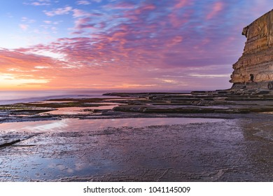 Sunrise Seascape from Rock Platform -  Capturing the sunrise from The Skillion at Terrigal on the Central Coast, NSW, Australia.