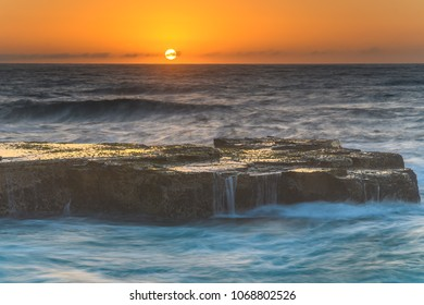 Sunrise Seascape from Rock Platform - Capturing the sunrise from North Avoca Beach on the Central Coast, NSW, Australia.