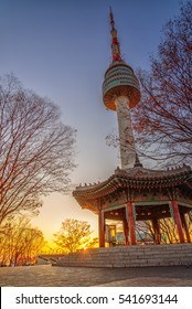 sunrise at seoul tower seoul korea
