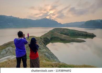 Sunrise at Sermo Reservoir. Kulonprogo Yogyakarta.