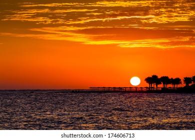 Sunrise at Sharm El Sheikh, Egypt