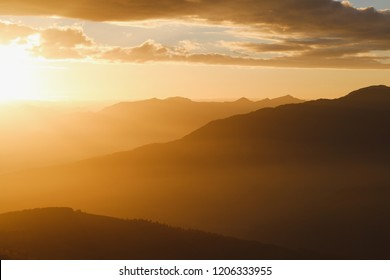 Sunrise shine over the hills