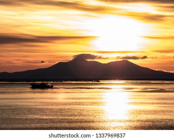 sunrise and ship