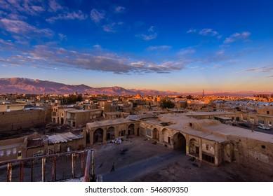 A sunrise shot of Kashan town in Iran