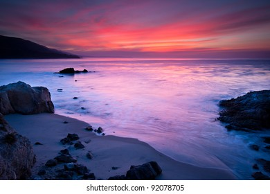 Sunrise shot at Leo Carrillo State Beach in California