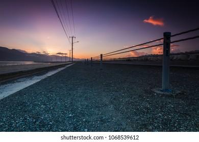 Sunrise shot at a low angle