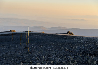 sunrise in the sierra nevada mountains, andalusia, spain