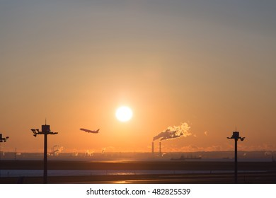 sunrise in the sky