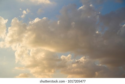 Sunrise, Sky with clouds and sunlight at sunset. colorful and cheerful, wallpaper or texture