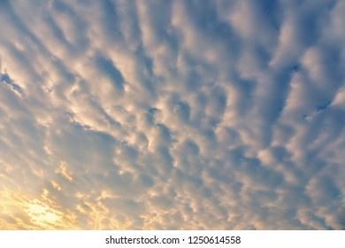 Sunrise sky with soft cloud texture and background