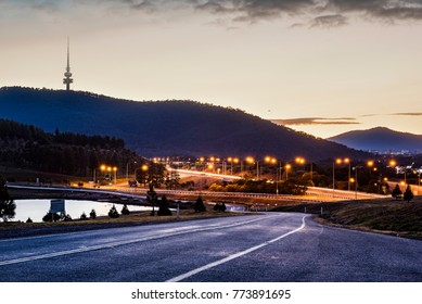 Sunrise Skyline at National Arboretum in Canberra