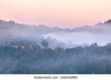 Sunrise at Smoky Mountains. Great Smoky Mountains National Park, USA
