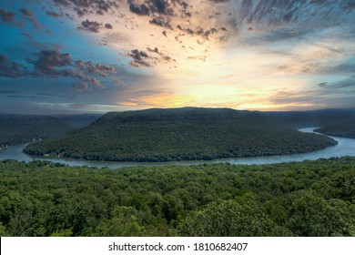 Sunrise At Snoopers Rock Overlook Near Chattanooga And Dunlap Tennessee