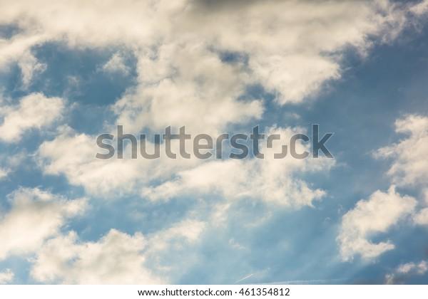 Sunrise Soft Yellow Wispy Cirrus Clouds