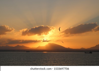 Sunrise in Somalia near the coast of Berbera
