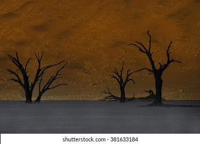 Sunrise at Sossusvlei, Namib desert, Namibia, Africa
