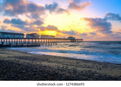 Sunrise at Southwold Pier in the UK