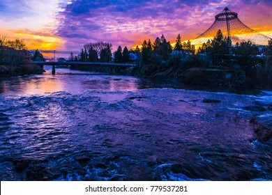 Sunrise in Spokane, Washington