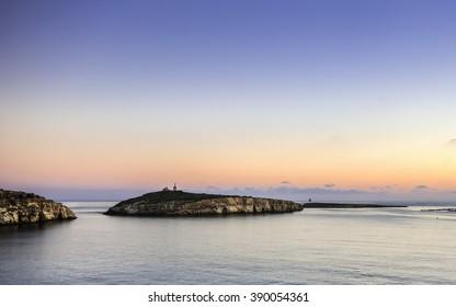Sunrise St Paul's islands, Malta, Europe