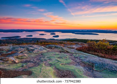 Sunrise from the Summit of Mount Cadillac in Fall | Acadia National Park, Maine, USA